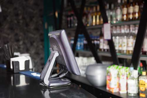 POS terminal at a bar